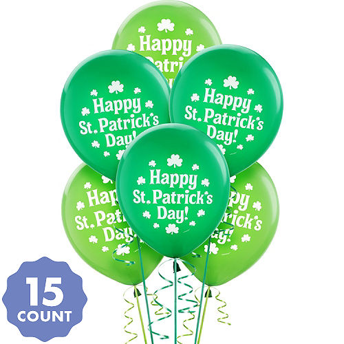 St Patrick S Day Balloons 15ct