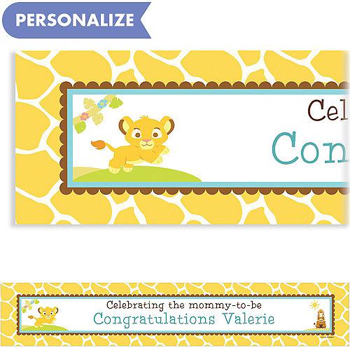 Custom baby shower invitations baby shower invites party city custom lion king baby shower baby shower banner 6ft filmwisefo