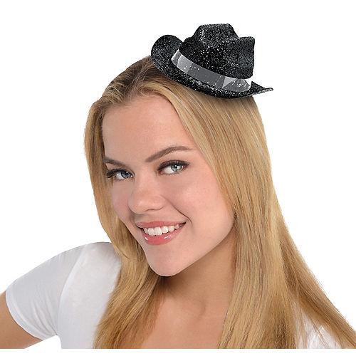 Purple Mini Top Hat On Headband One Size