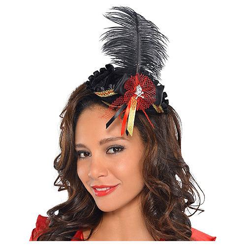 58efe1c473a1a Feathered Pirate Tricorner Headpiece