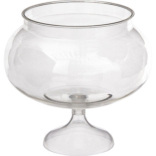 Clear Plastic Pedestal Bowl 5in X 6in Party City