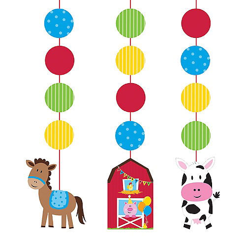 Farmhouse Fun String Decorations 3ct