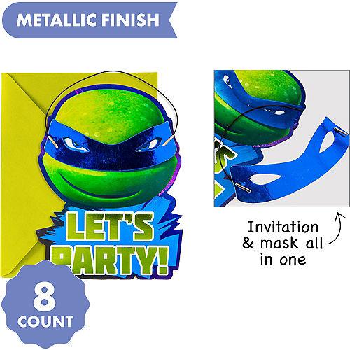 Premium Teenage Mutant Ninja Turtles Invitations 8ct