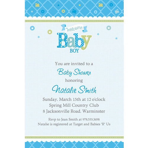 Custom Baby Shower Invitations For Boys