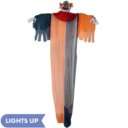 light up talking hanging scary clown