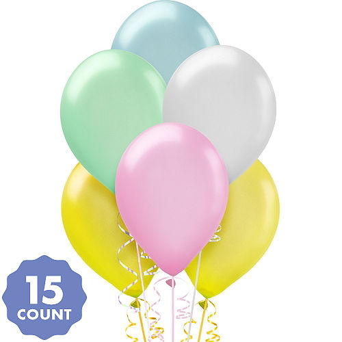 Assorted Pastel Pearl Balloons 15ct