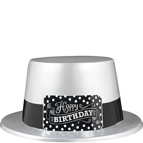 Black White Birthday Top Hat