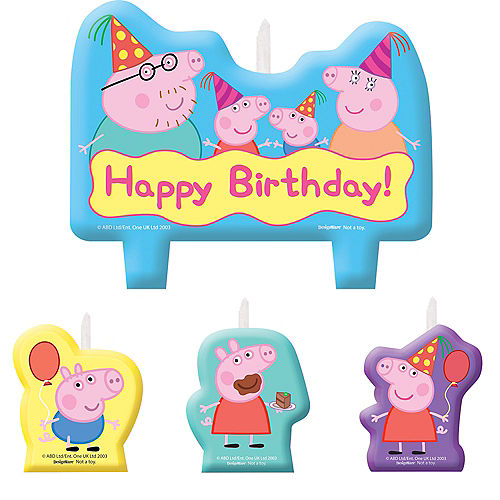 Peppa Pig Birthday Candles 4ct
