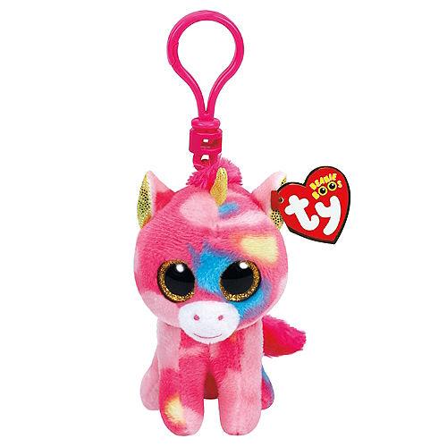 2c029872870 Clip-On Fantasia Beanie Boo Unicorn Plush 2 1 4in x 3 3 4in