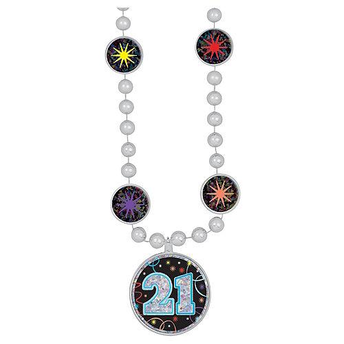 Prismatic 21st Birthday Pendant Bead Necklace