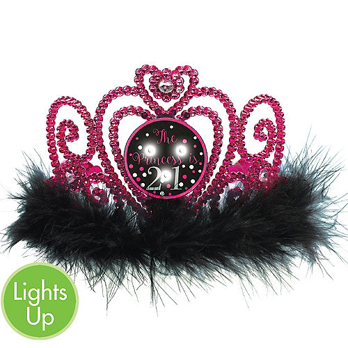 Light Up LED 21st Birthday Tiara
