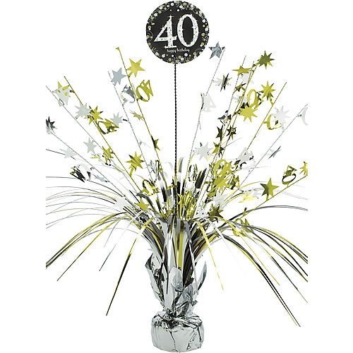 40th Birthday Spray Centerpiece