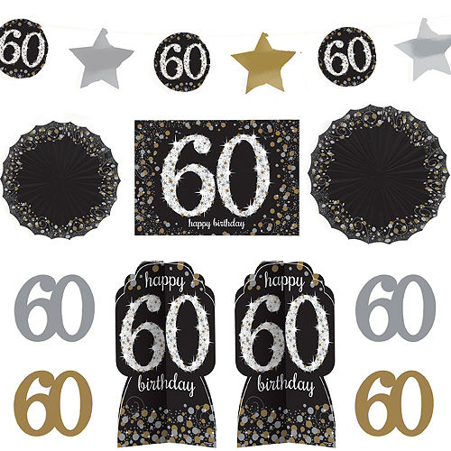 60th Birthday Room Decorating Kit 10pc