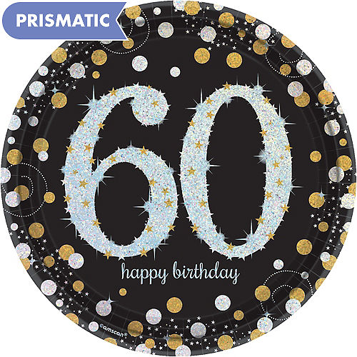 Prismatic 60th Birthday Lunch Plates 8ct