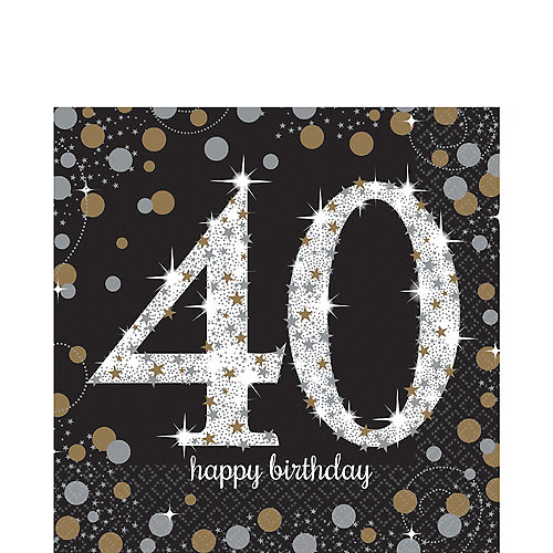 40th Birthday Lunch Napkins 16ct