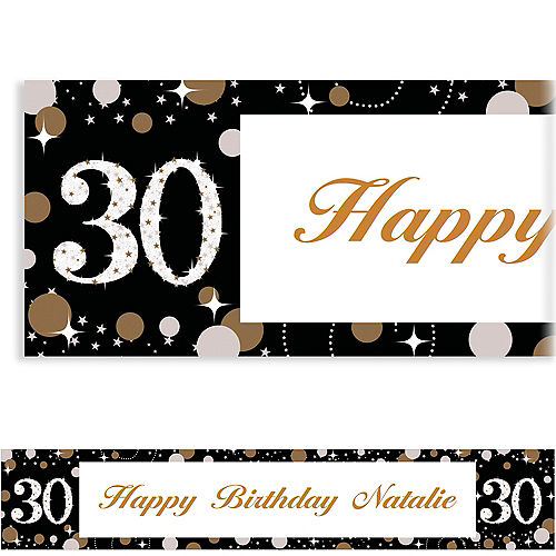 Custom Sparkling Celebration 30 Banner