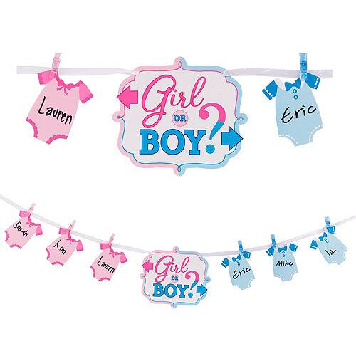 Girl Or Boy Gender Reveal Banner Activity Kit