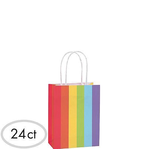 Small Rainbow Kraft Bags 24ct