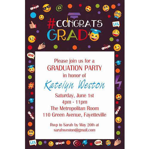Custom Smiley Graduation Invitation