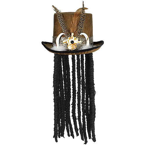 e7c61a31710 Witch Doctor Top Hat with Dreads