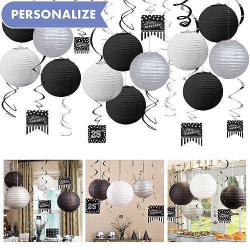 Black White Ceiling Decorating Kit
