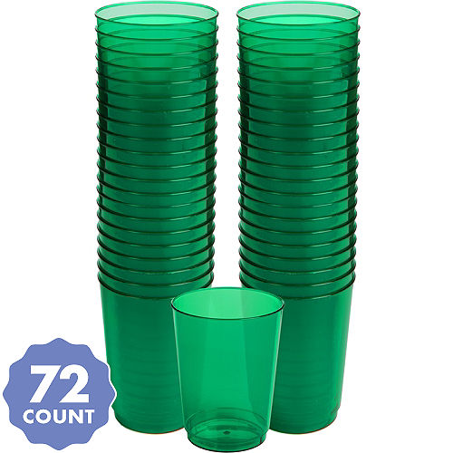 Big Party Pack Festive Green Plastic Cups 72ct