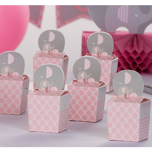 b0a99731cd82 Pink Baby Elephant Treat Boxes 8ct