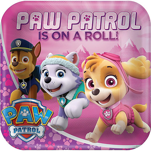 Pink PAW Patrol Lunch Plates 8ct