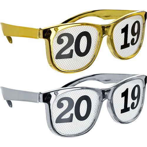 bc28584729b Gold  amp  Silver 2019 Printed Glasses 8ct