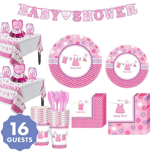 Its A Girl Baby Shower Party Supplies Party City
