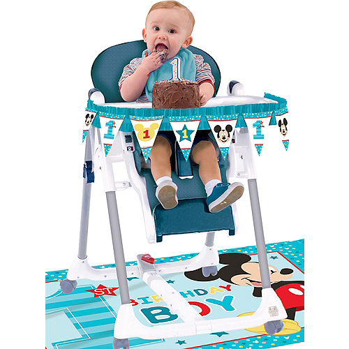 1st Birthday Mickey Mouse High Chair Decorating Kit 2pc