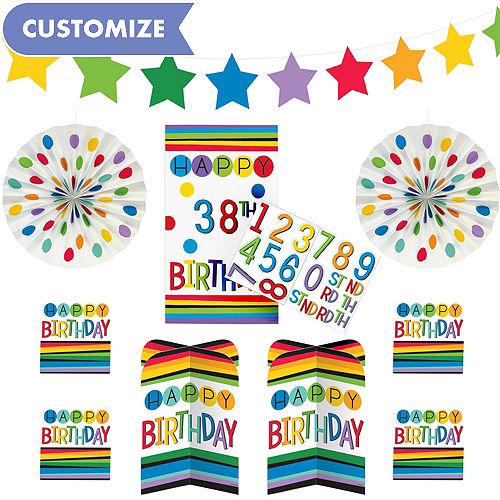 Rainbow Happy Birthday Room Decorating Kit 36pc