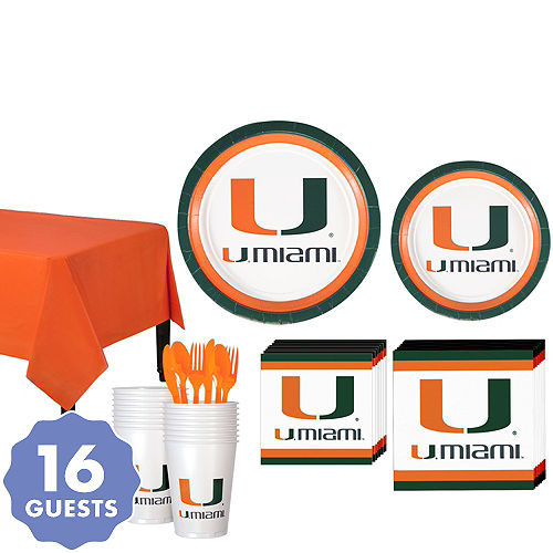 Miami Hurricanes Party Kit For 16 Guests