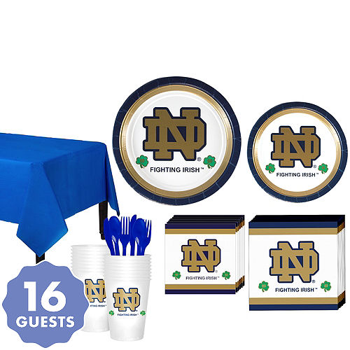 2480639f17e Notre Dame Fighting Irish Party Kit for 16 Guests