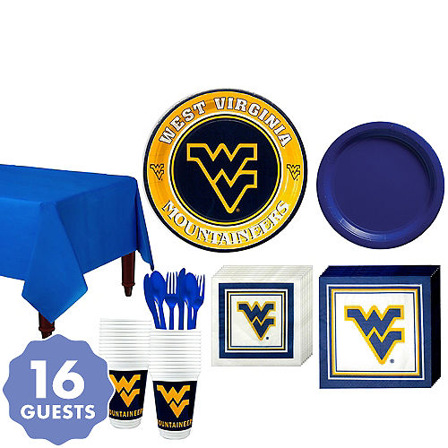 8539a14f86 West Virginia Mountaineers Party Kit for 16 Guests