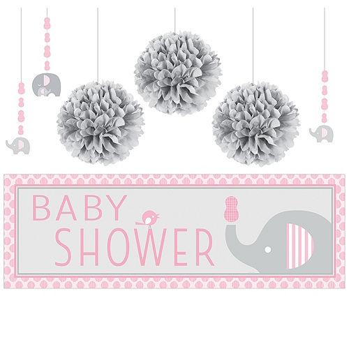 4d79b416b Little Elephant Girl Baby Shower Supplies | Party City