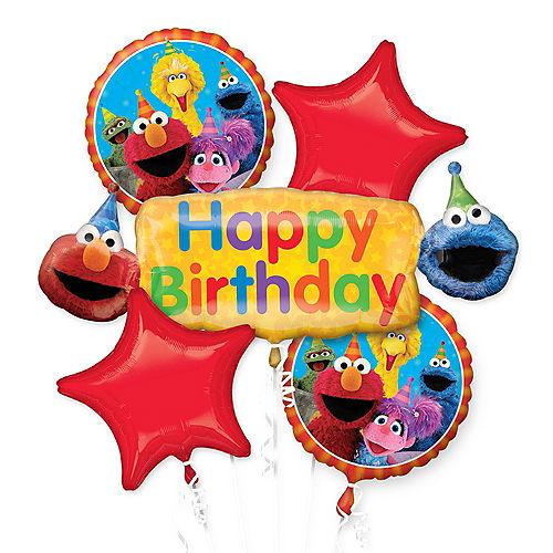Sesame Street Birthday Balloon Bouquet 5pc