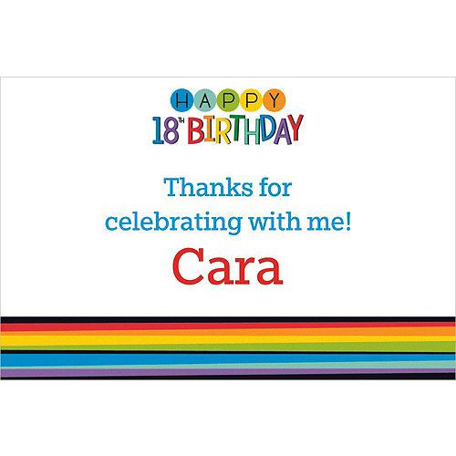 Custom Rainbow 18th Birthday Thank You Note