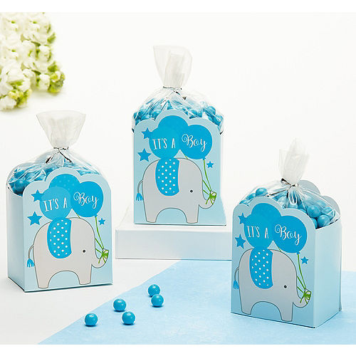 blue its a boy baby shower favor box kit 8ct