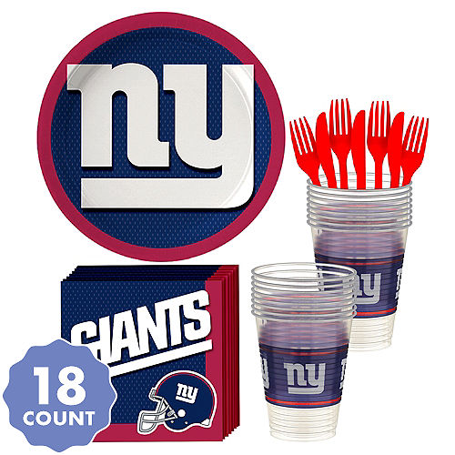 86804181989 New York Giants Party Kit for 18 Guests