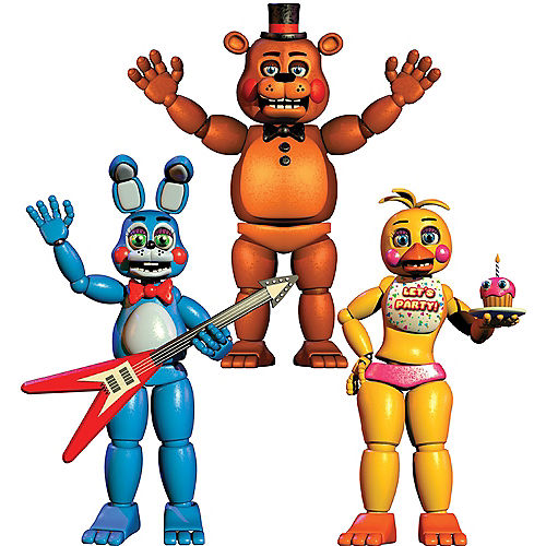 Jointed Five Nights At Freddys Cutouts 3ct