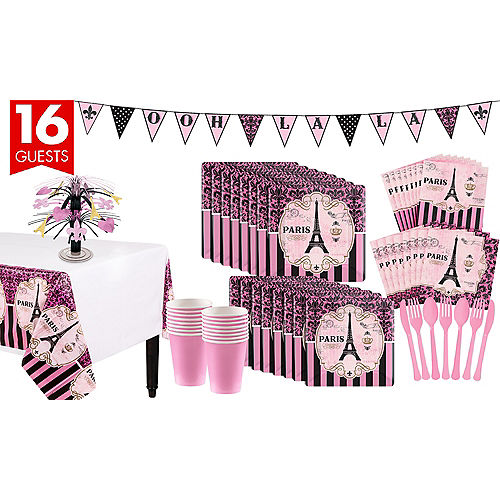 A Day In Paris Tableware Kit For 16 Guests