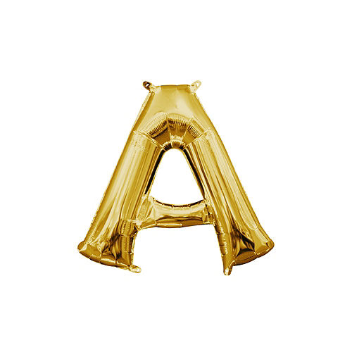 air filled gold letter a balloon