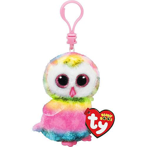 Clip On Owen Beanie Boo Owl Plush