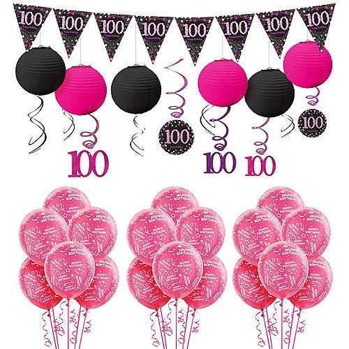 100th Birthday Pink Sparkling Celebration Decorating Kit