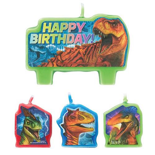 Jurassic World Birthday Candles 4ct