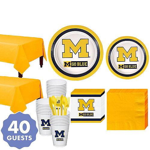 Fantastic Michigan Wolverines Party Supplies Party City Gmtry Best Dining Table And Chair Ideas Images Gmtryco