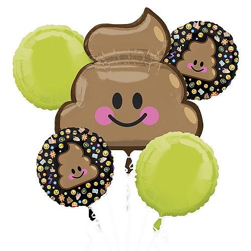 Poop Icon Balloon Bouquet 5pc