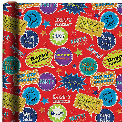 Fun Birthday Gift Wrap
