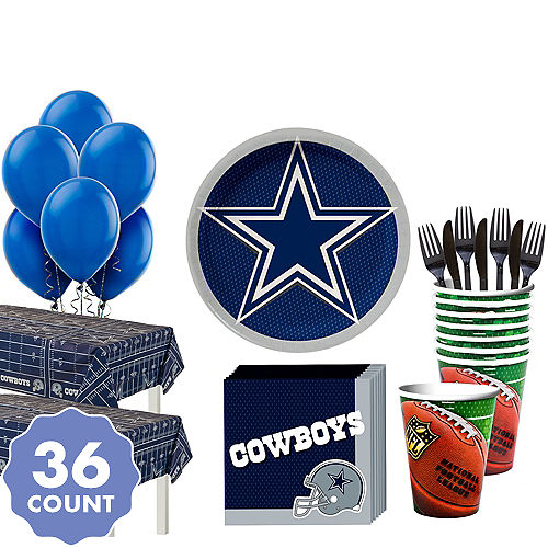 Super Dallas Cowboys Party Kit For 36 Guests